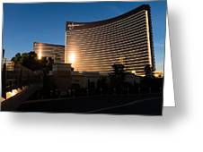 A Wynn And Encore Sunset Greeting Card