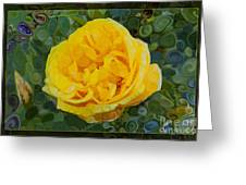A Yellow Rose Abstract Painting Greeting Card