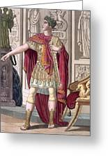 A Young Emperor In His Imperial Armour Greeting Card