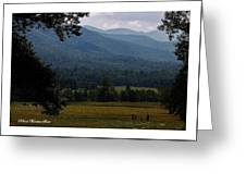 A Young Family Visits The  Great  Smoky Mountains Greeting Card