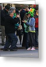 A Young Lady Posing During The 2009 New York St. Patrick Day Parade Greeting Card