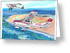 Cessna 206 And A1a Husky Greeting Card