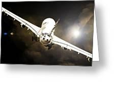 A340 Takeoff Greeting Card