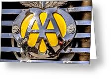 Aa Mu Emblem Greeting Card