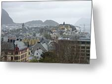 Aalesund From Above Greeting Card