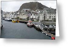 Aalesund Waterways Greeting Card