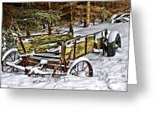 Abandoned In The Snow Greeting Card