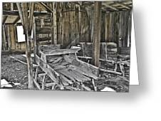 Abandon Barn Greeting Card