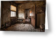 Abandoned Asylum - Haunting Images - What Once Was Greeting Card by Gary Heller