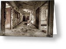Abandoned Asylums - What Has Become Greeting Card by Gary Heller