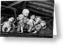 Abandoned Baby Dolls Greeting Card