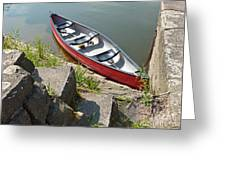 Abandoned Boat At The Quay Greeting Card