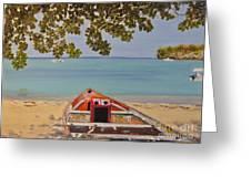 Abandoned Boat Seascape Greeting Card
