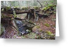 Abandoned Boston And Maine Railroad Timber Bridge - New Hampshire Usa Greeting Card