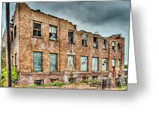 Abandoned Brick Building Greeting Card