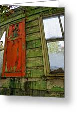 Abandoned Cabin Elkmont - Coming Down Clover Greeting Card
