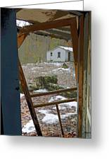 Abandoned Cabin Elkmont Smoky Mountains - Screened Door Old House Greeting Card