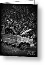 Abandoned Car Road To Hana Maui Greeting Card