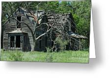 Abandoned Country Kansas Farm House Greeting Card