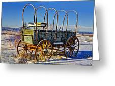 Abandoned Covered Wagon Greeting Card