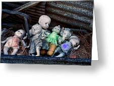 Abandoned Dolls Greeting Card