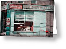 Abandoned Drug Store Greeting Card by DeeLusions Photography