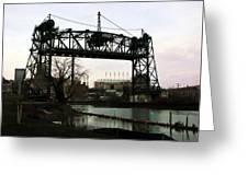 Abandoned Eagle Ave Bridge Greeting Card