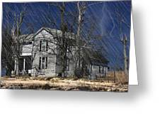 Abandoned Except For Ghosts Greeting Card