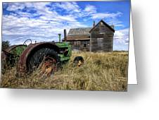 Abandoned Farm Saskatchewan Canada Greeting Card