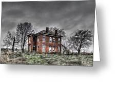 Abandoned Farmhouse Before The Storm Greeting Card