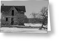 Abandoned Farmhouse Greeting Card