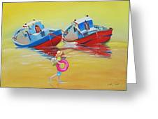 Abandoned Fishing Boats Tavira Greeting Card