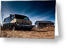 Abandoned Ford Van Greeting Card