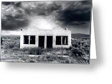 Abandoned Gas Station In Nm Greeting Card