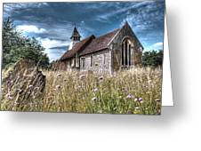 Abandoned Grave In The Churchyard Greeting Card