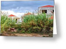 Abandoned Holiday Resort Greeting Card