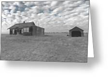 Abandoned Homestead Series Selective Color Greeting Card