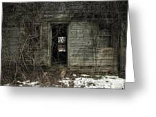 Abandoned House - Enter House On The Hill Greeting Card