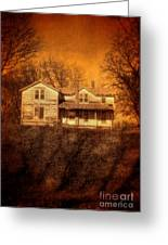 Abandoned House Sunset Greeting Card by Jill Battaglia