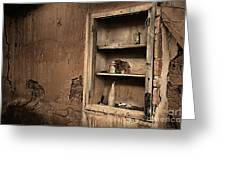 Abandoned Kitchen Cabinet B Greeting Card