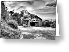 Abandoned La Zoo Dr's  Barn House Greeting Card