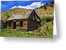 Abandoned Log Cabin Greeting Card