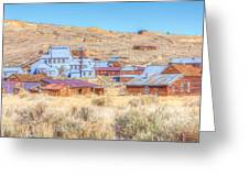 Abandoned Mining Buildings Greeting Card