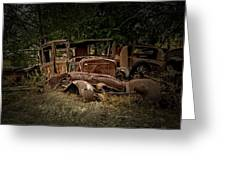 Abandoned Model A Shell Greeting Card
