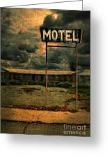 Abandoned Motel Greeting Card