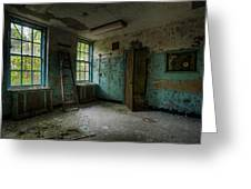 Abandoned Places - Asylum - Old Windows - Waiting Room Greeting Card