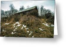 Abandoned Places - Old House - House On The Hill Greeting Card