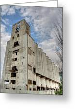 Abandoned Riverside Factory Greeting Card