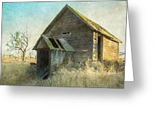 Abandoned Root Cellar Greeting Card