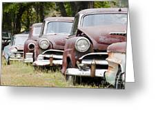 Abandoned Rusted Cars Greeting Card